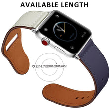 Load image into Gallery viewer, Genuine leather strap for apple watch band 42mm 38mm loop watchband for iwatch 44mm 40mm 5/4/3/2/1 bracelet accessories