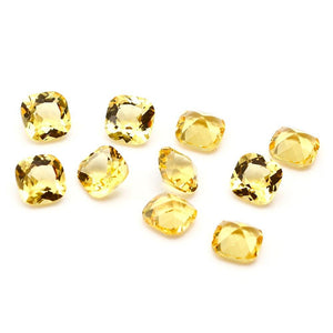 5Pcs Nano Stone Double-Sided Cutting Square 9X9MM DIY Bare Beads Stone Jewelry Accessories Quality Gem Gift Decoration