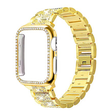 Load image into Gallery viewer, Band + Case Metal Strap For Apple Watch  Series 5 Strap 40mm 44mm Diamond Ring 38mm 42mm Stainless Steel Bracelet iwatch 4/3/2/1 - shopsatang.com
