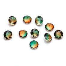 Load image into Gallery viewer, 10Pcs Double-sided CuttingRound 5MM Tourmaline Loose Powder GemstoneFashionJewelry Accessories Decorative Gifts Stone