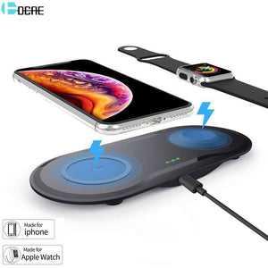 DCAE Qi Wireless Charger Pad for Apple Watch 5 4 3 2 1 iWatch Airpods Pro Fast Charging Dock Station For iPhone 11 XS Max XR X 8