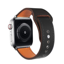 Load image into Gallery viewer, Genuine leather strap for apple watch band 42mm 38mm loop watchband for iwatch 44mm 40mm 5/4/3/2/1 bracelet accessories - shopsatang.com