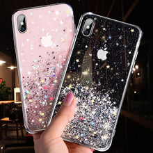 Load image into Gallery viewer, Luxury Bling Glitter Phone Case For iPhone 11 Pro X XS Max XR Soft Silicon Cover For iPhone 7 8 6 6S Plus Transparent Cases Capa