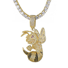Load image into Gallery viewer, D&Z Hip Hop Bee Necklace For Women Men Gold & Silver Iced Out Cubic Zircon Micro Paved Fashion Jewelry - shopsatang.com