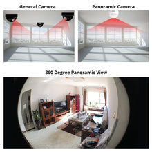 Load image into Gallery viewer, KERUI LED Light 960P Wireless Panoramic Home Security WiFi CCTV Fisheye Bulb Lamp IP Camera 360 Degree Home Security Burglar