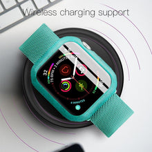 Load image into Gallery viewer, KUULAA Bumper for Apple Watch Series 5 4 3 2 1 PC Case For Apple Watch Thin Protector Case Frame 40 44 38 42 mm case band