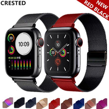 Load image into Gallery viewer, Milanese Loop Strap For Apple Watch band pulseira apple watch 5 4 3 band 44mm/40mm iwatch 5 42mm 38mm correa watchband bracelet