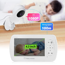 Load image into Gallery viewer, KERUI 4.3 inch Screen 2MP 1080P Wireless Video Nanny Baby Monitor With Camera Security Babyfoon Temperature Monitor Night Vision