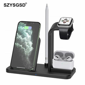 SZYSGSD 10W Wireless Charger For iPhone 11 X XS Max Wireless Charging Pad For Apple watch Airpods Pro Fast Charge for Samsang