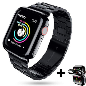full screen protector case+metal strap for apple watch band 42mm 38mm apple watch 4 5 44mm 40mm iwatch 5/4/3/2/1 bracelet belt