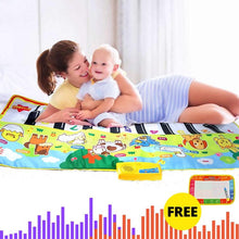 Load image into Gallery viewer, 135X58CM Large Size Musical Mat Baby Animal Theme Educational Learning Toy Children Baby Toy  Infantil Playing Type Music Mat