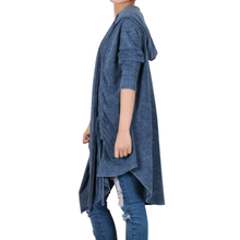 Load image into Gallery viewer, Way Beyoung Womens Navy Long Sleeve Open Front Cardigan