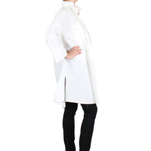 Load image into Gallery viewer, Way Beyoung Women's White Long Sleeve Button-Down Long Jacket