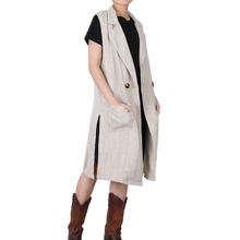 Load image into Gallery viewer, Way Beyoung Brown Collared Sleeveless One-Button W/Front Pockets Vest
