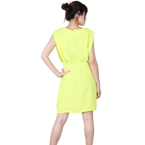 Urban Diction Yellow Sleeveless Fluorescent Summer Dress