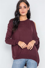 Load image into Gallery viewer, Asymmetrical Hem Seamed Sweater