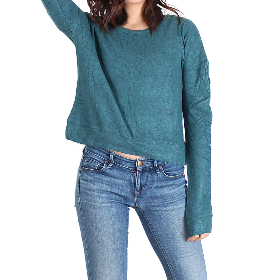 Urban Diction Hunter Green Long-Sleeve Sweater