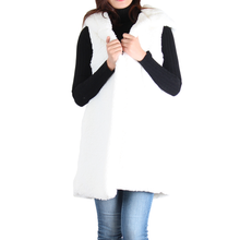 Load image into Gallery viewer, Ivory Sherpa Open Front Hooded Sleeveless Vest
