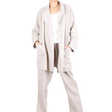 Load image into Gallery viewer, Way Beyoung Light Brown Open Front Jacket W/ Front Pockets