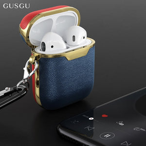 Leather Case For Airpods Wireless Earphone Cover Cases For Air Pods Bluetooth Earpods Headphone Box Case Protective Skin Cover