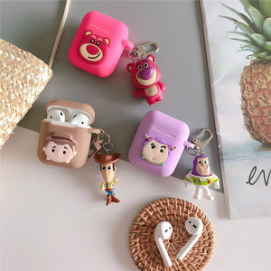 Cartoon Toy Story Woody Buzz Lightyear earphone Case For Apple airpods Wireless bluetooth headset Cover New air pod 2 acessorios
