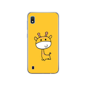 Case For Samsung A10 Case cover Soft Silicone Phone coque on For Samsung Galaxy A10 A 10 SM-A105F A105 A105F cartoon coqa