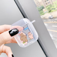 Load image into Gallery viewer, Lovely For Airpods2 Wireless Charge Case Silicone Soft Tpu Cover For Air Pods Cases Cute Key Rings  Shockproof Headphone Box Bag