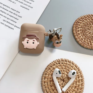 Cute Cartoon Toy Story Hamm Piggy Bank Rex The Dinosaur Red Heart Headphone Cases For Apple Airpods 1 2 Silicone earphone Cover