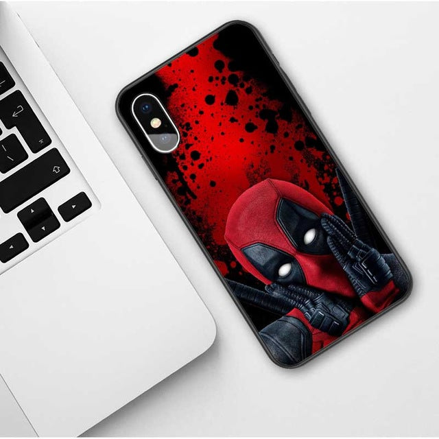Marvel Venom Iron Man Spider-Man Batman Deadpool Soft TPU Cover Phone Case for iPhone X 6 6S Plus 7 8 Plus XR XS MAX 11 Pro Max