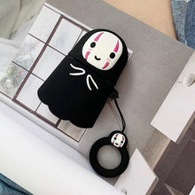 Load image into Gallery viewer, For AirPods silica gel Case Cute Japan Cartoon Earphone Cases For Apple Airpods 2 Funny Protect Cover with Finger Ring Strap