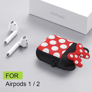 Earphone Case for Airpods 2 Case Silicone Chocolate Cute Cartoon Cover for Apple Air Pods Headphone Case for Earpods Ring Strap