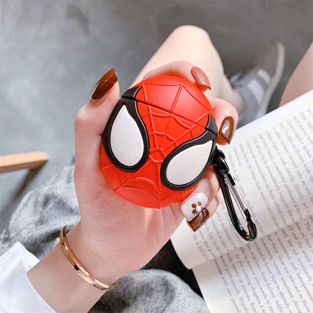VOZRO Spiderman Wireless Bluetooth Earphone Case For Apple AirPods Silicone Headphones Cases For Airpods 2 Protective Cover