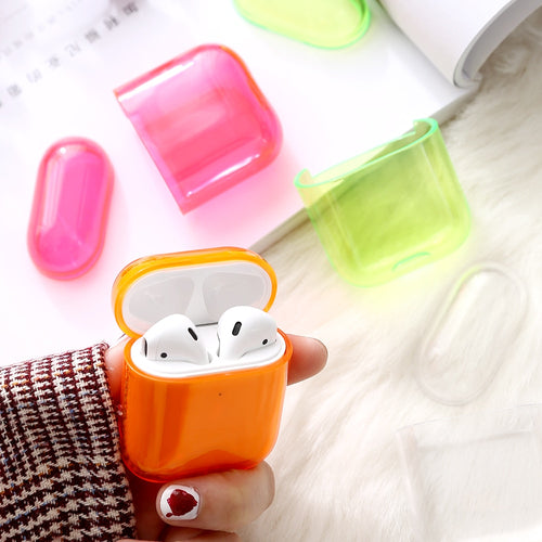 For Apple Air pods Charging Headphone Box Hard Transparent Wireless Bluetooth Earphone Case For Airpods Case