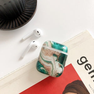 Earphone Case For Airpods 2 Case Luxury Marble Hard Headphone Case Protective Cover Accessories for Apple Air pods Charging Box