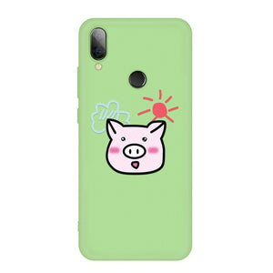 Lovely Cartoon Painted TPU Case For Xiaomi Redmi Note 7 5 Pro 6 6A 7A Silicone Matte Soft Phone Cover For Redmi 7 6 Pro K20 Capa