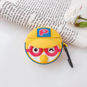 For AirPods Case Cartoon Pattern Earphone Case For Apple Airpods 2 Cover Charging Box Protective Accessories with Carabine Hook