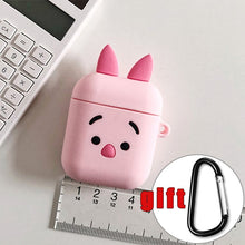 Load image into Gallery viewer, For AirPods Case Cartoon Pattern Earphone Case For Apple Airpods 2 Cover Charging Box Protective Accessories with Carabine Hook