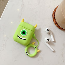 Load image into Gallery viewer, For AirPods Case Cute Earphone Case For Apple Airpods 2 Cover Kawaii Cartoon Pattern Protective Box with Finger Ring Strap