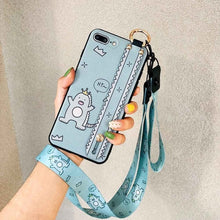 Load image into Gallery viewer, Wristband Kickstand Cover For Huawei Nova 3 3i 4 Honor 8X 10 V20 Lanyard Phone Case For Huawei Mate 20 P20 P30 Pro Lite TPU Case