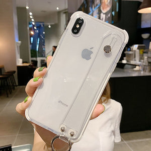Shining Glitter Powder Phone Case For iPhone X XR XS Max 8 7 Plus 6 6S Plus Transparent Soft TPU Shockproof Bling Back Cover