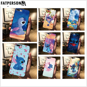 Black cover For Samsung Galaxy S8 S9 S10 Plus S7 edge Cute cartoon Stitch Phone case For iphone 7 8 6 6S Plus 5 5S X XS XSMAX XR