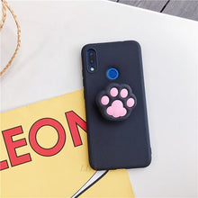 Load image into Gallery viewer, 3D silicone cartoon phone holder case for huawei p30 p20 lite pro p8 p9 p10 lite plus 2017 2016 girl cute stand covers