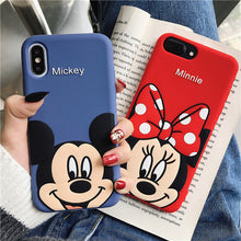 Load image into Gallery viewer, Cute 3D Cartoon Mickey Minnie Mouse Case For iPhone X XS MAX XR Phone Case For iPhone 7 8 6S 6 Plus Soft TPU Silicon Cover Coque