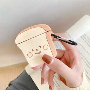Cute Cartoon Earphone Case for Airpods 2 Cover Soft Silicone Slim Earphone Cover for Airpods 1 Case Bag Protective Strap Cases