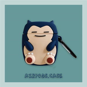 3D Cute Cartoon Pokemon Psyduck Snorlax Kabigon Headphone Cases For Apple Airpods 1/2 Silicone Protection Earphone Skin Cover