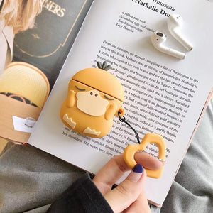 For AirPods Case Cute Earphone Case For Apple Airpods 2 Cover Kawaii Cartoon Pattern Protective Box with Finger Ring Strap