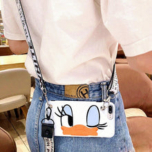Load image into Gallery viewer, Cute Cartoon Lanyard crossbody Phone Case For iphone Xs Max Xr X 7 8 6 Plus TPU cover Shoulder Strap Soft Silicon Phone Bag capa