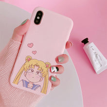 Load image into Gallery viewer, Sailor Moon Phone Case For Samsung A70 S8 A50 S9 note 10 9 8 S10 S7 edge j7 j5 a5 a8 a30 s6 s9 plus a6 s10e j6 Soft Back Cover