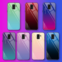 Load image into Gallery viewer, Gradient Tempered Glass Case For Samsung Galaxy A50 A70 Note 10 9 8 S8 S9 S10 Plus S10e A 80 30S 40 20e A7 2018 Phone Case Cover