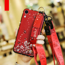 Load image into Gallery viewer, Fashion Plaid Style Wrist Strap Phone Case For iPhone X XR XS XS 6 6s 7 8plus 11 Pro Max with Lanyard Neck Strap Wrist Strap